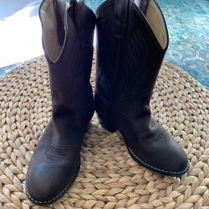 Old West Toddler SZ 12 Brown Leather Cowboy Boots
